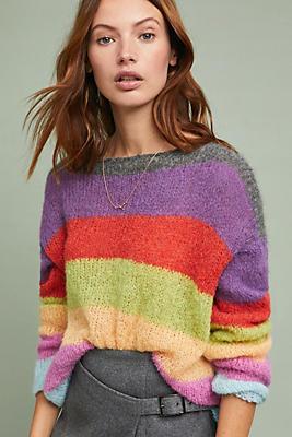 Slide View: 1: Festive Striped Sweater