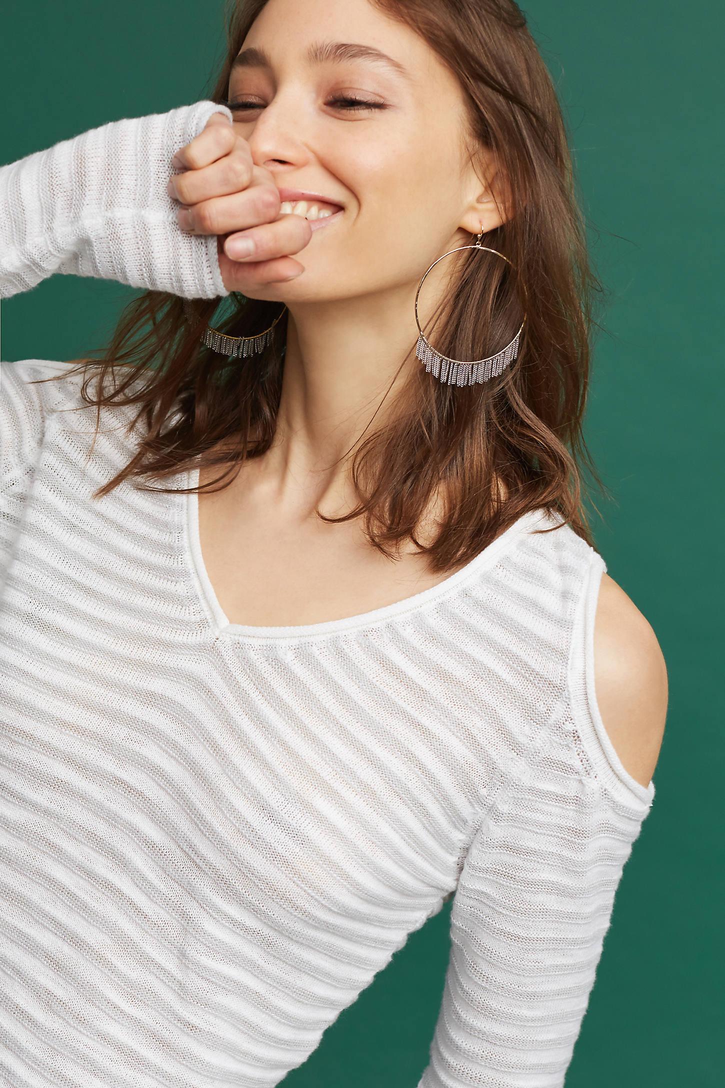 Desiree Open-Shoulder Pullover