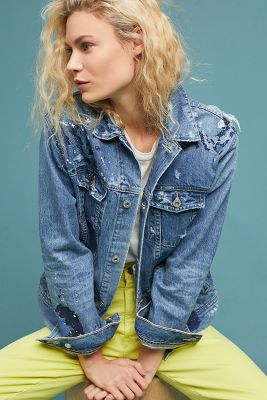 Ag Nancy Embroidered Denim Jacket by Ag Jeans