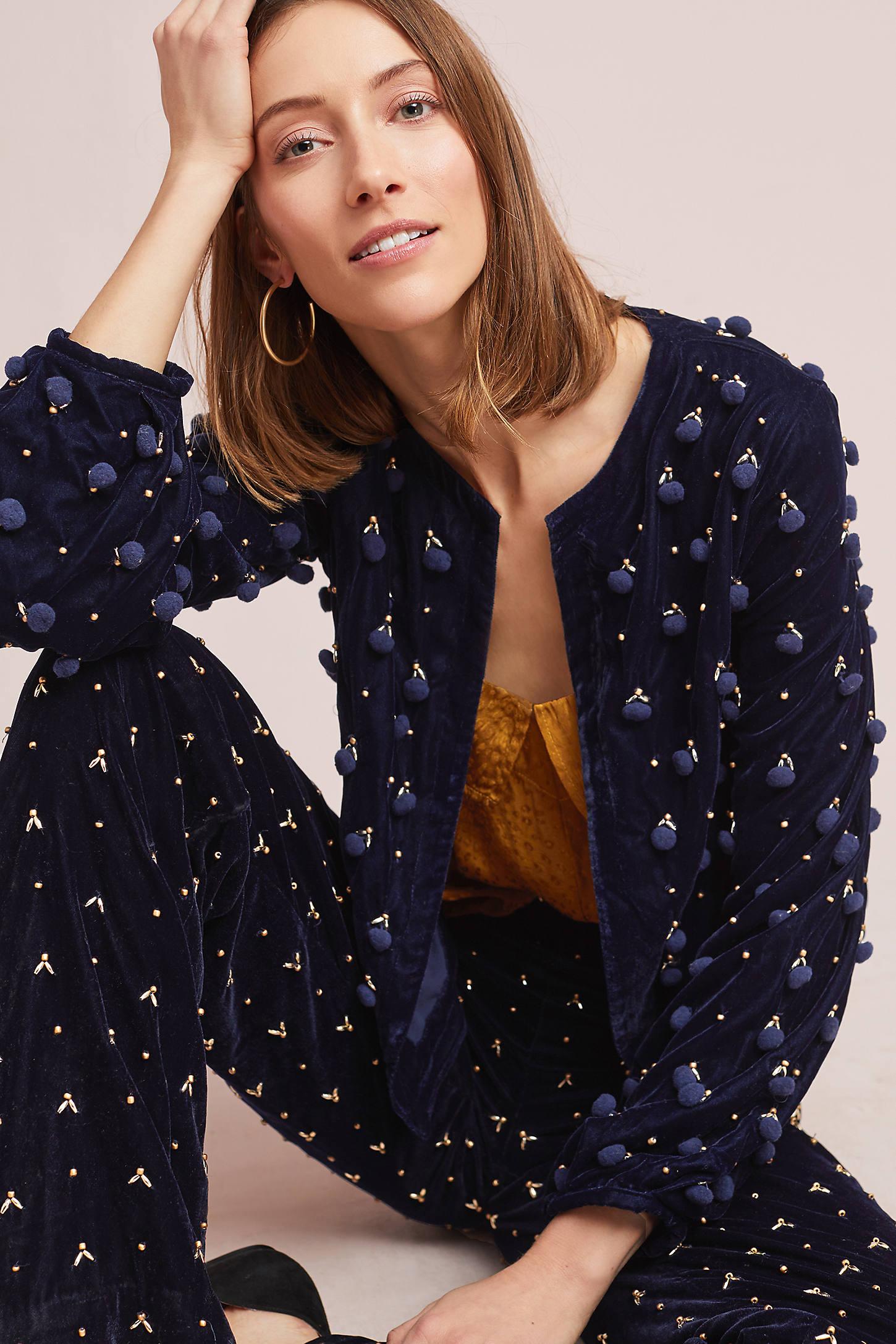 Pommed Velvet Jacket