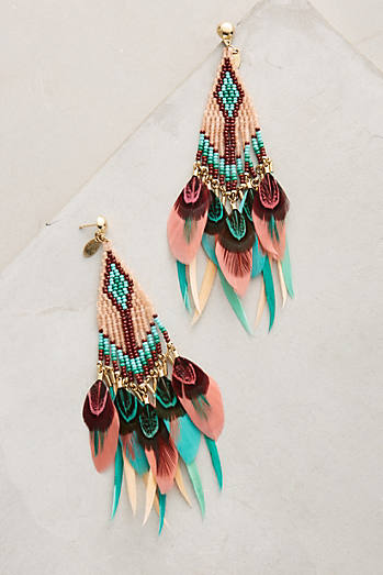 Quetzal Beaded Earrings