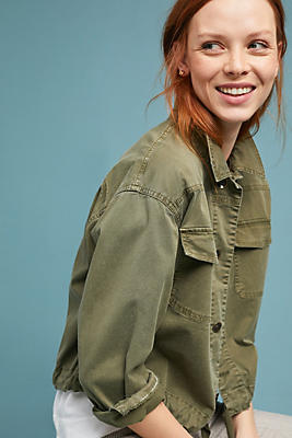 Slide View: 1: Embroidered Military Jacket