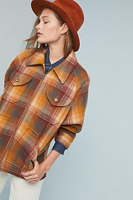 Slide View: 1: Frye Jordyn Plaid Coat