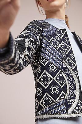 Slide View: 1: Embellished Quilted Jacket