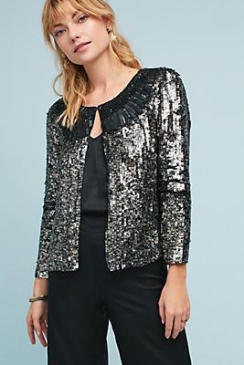 Slide View: 1: Embellished Sequin Jacket