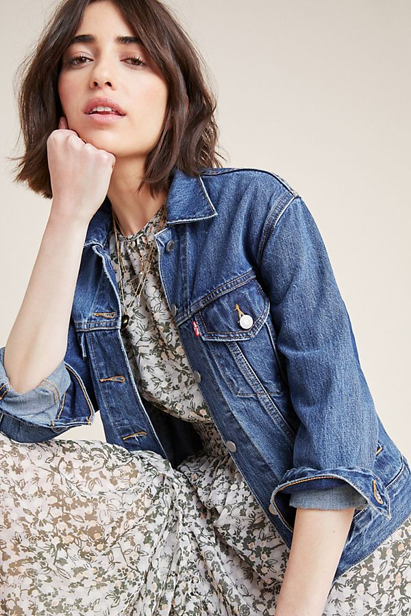 Slide View: 1: Levi's Ex-Boyfriend Denim Trucker Jacket