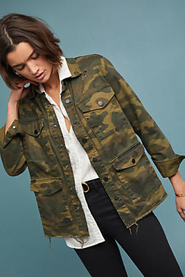Slide View: 1: Jane Camo Jacket