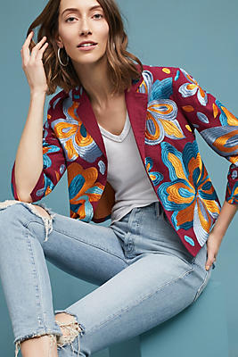 Slide View: 1: Woodstock Embroidered Jacket