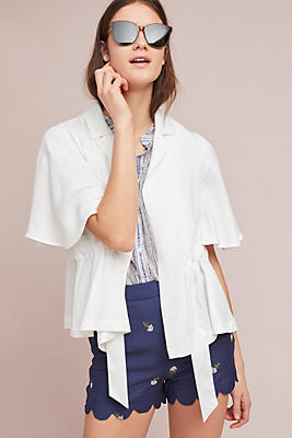 Slide View: 1: Cinched Kimono Blazer