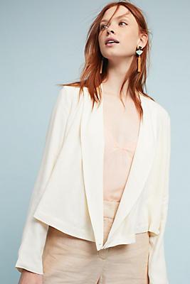 Slide View: 1: Buttoned Wrap Blazer