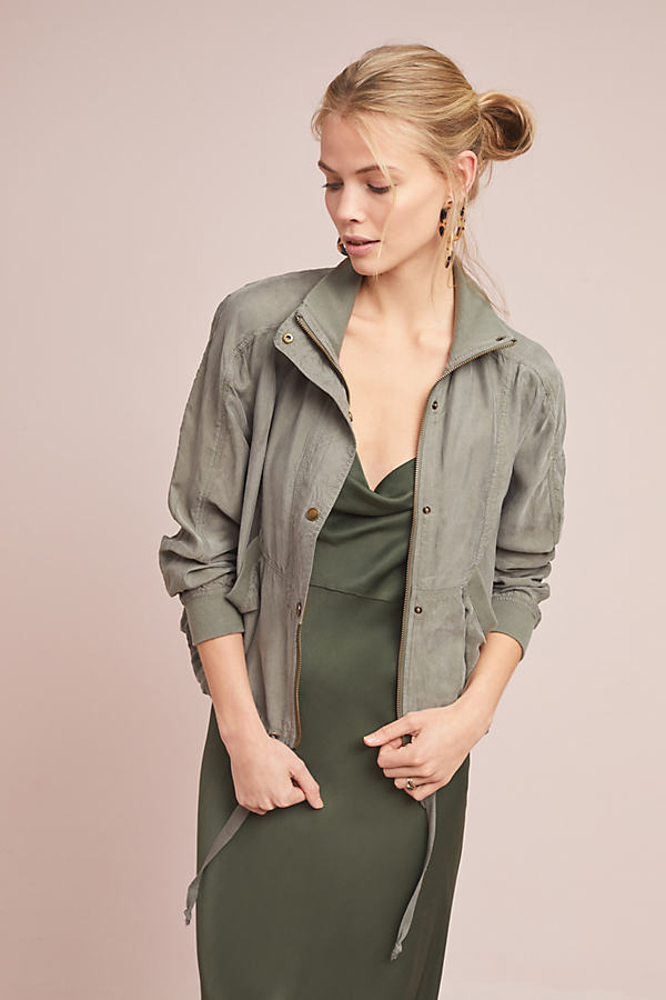 Marrakech Draped Jacket - Green, Size S
