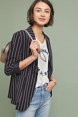 Slide View: 1: Americana Striped Blazer