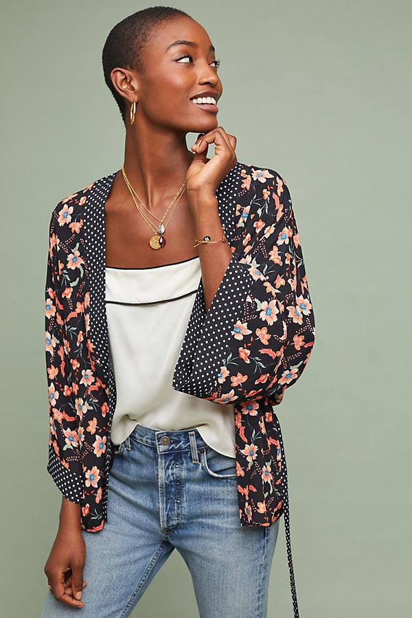 Kachel Allie Mix-Print Kimono - Assorted, Size Uk 12