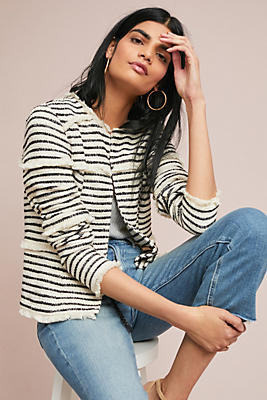 Slide View: 1: Fringed Stripe Jacket