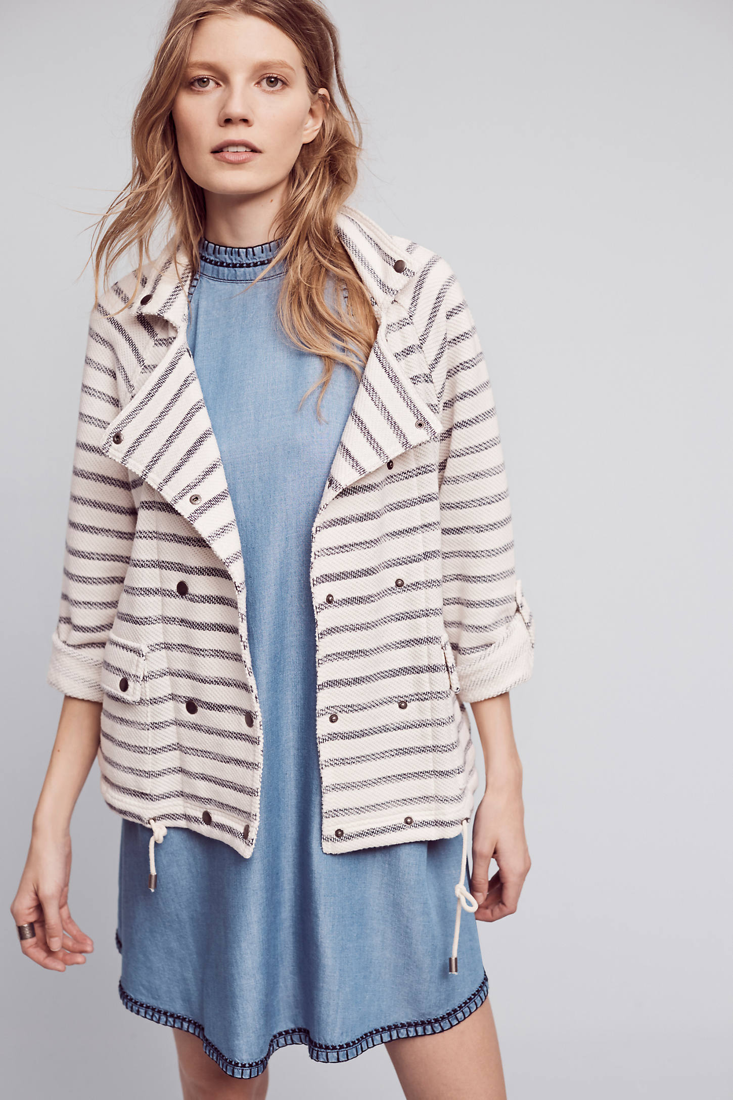 Striped Sweater Jacket