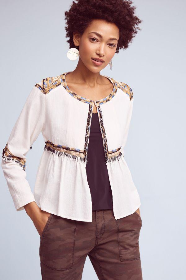 Elevenses Embellished Topper Jacket