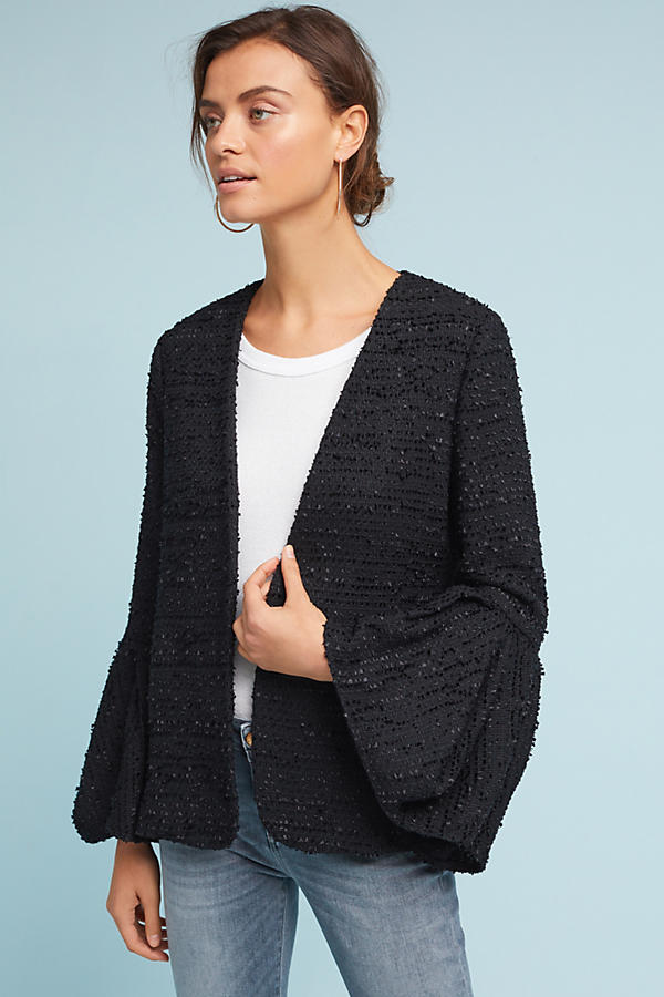 Slide View: 1: Tulip-Sleeve Blazer
