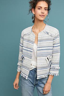 Slide View: 1: Bea Textured Stripe Jacket