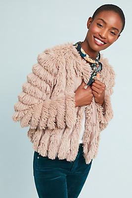 Slide View: 1: Faux Fur Jacket