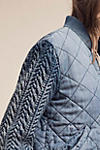 Thumbnail View 4: Quilted Chambray Bomber Jacket, Blue