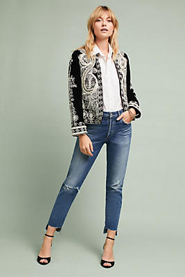 Slide View: 1: Winston Velvet Embroidered Jacket
