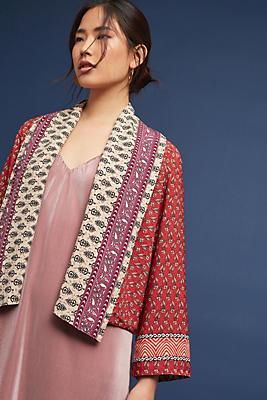 Slide View: 1: Carson Reversible Kimono Jacket
