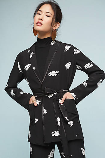Leaf-Printed Jacket