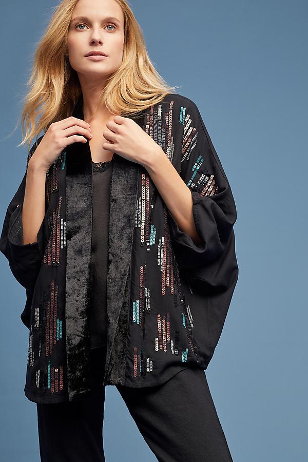 Jacy Sequin-Embellished Kimono - Assorted, Size M