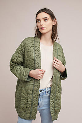 Slide View: 1: Quilted Kimono Jacket