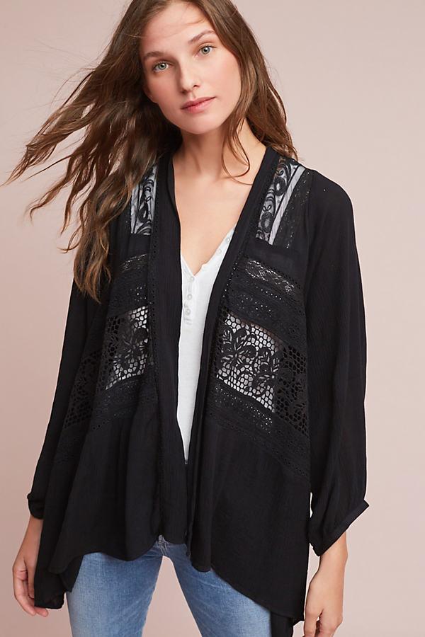 Kenepa Lace Cardigan - Black, Size Xs/s