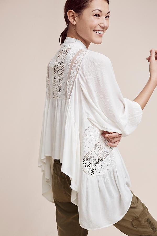 Slide View: 4: Kenepa Lace Kimono