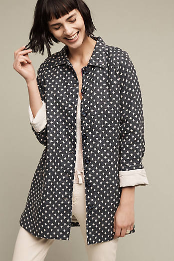 Dotted Linen Anorak