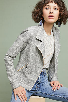 Slide View: 1: Caitlin Knit Moto Jacket