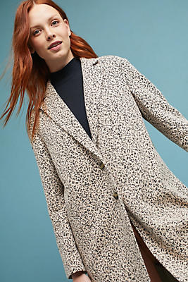 Slide View: 1: Leopard Knit Blazer