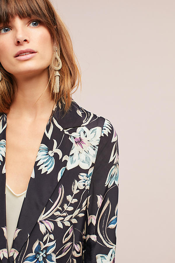 Slide View: 3: Slouched Floral Blazer