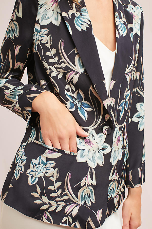 Slide View: 4: Slouched Floral Blazer