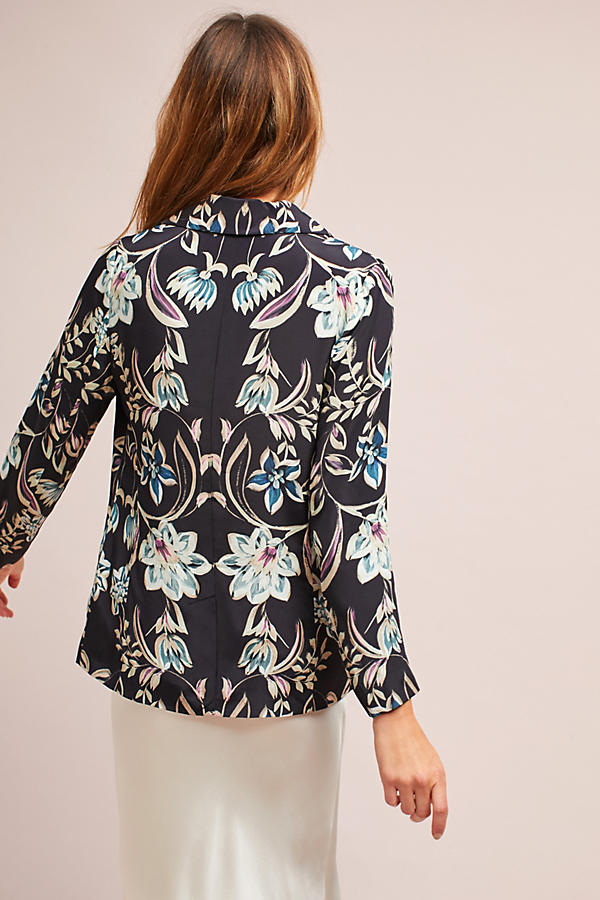 Slide View: 5: Slouched Floral Blazer