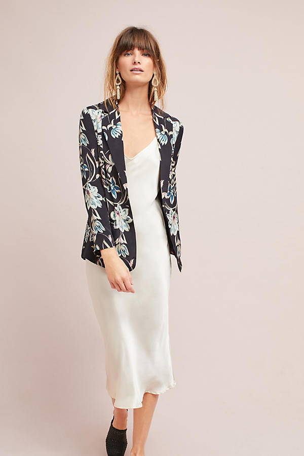 Slide View: 1: Slouched Floral Blazer