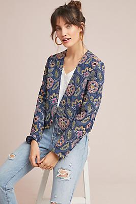 Slide View: 1: Majorelle Embroidered Jacket