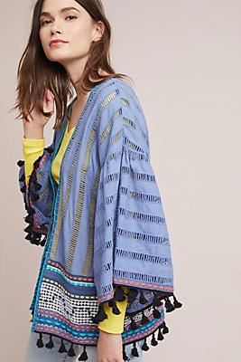 Slide View: 1: Alina Textured Kimono