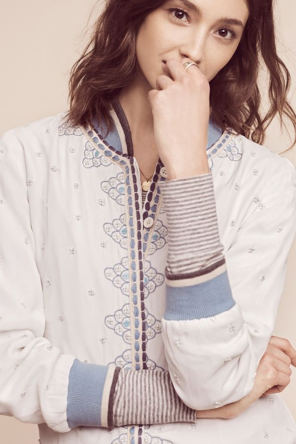 Conditions Apply Arabella Embroidered Bomber
