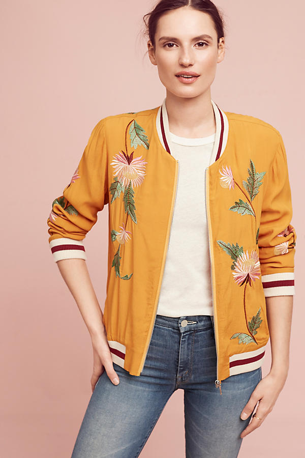 Slide View: 3: Embroidered Solstice Bomber