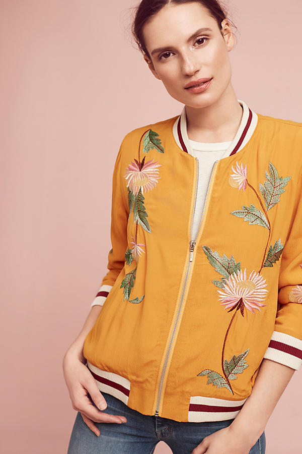 Slide View: 1: Embroidered Solstice Bomber