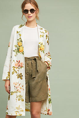 Slide View: 1: Floral Longline Blazer