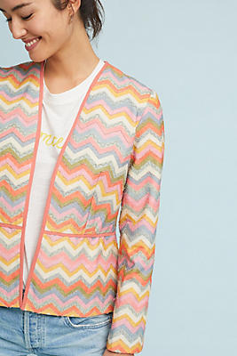 Slide View: 1: Valeska Chevron Blazer