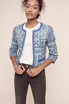 Slide View: 1: Zinaida Embroidered Jacket