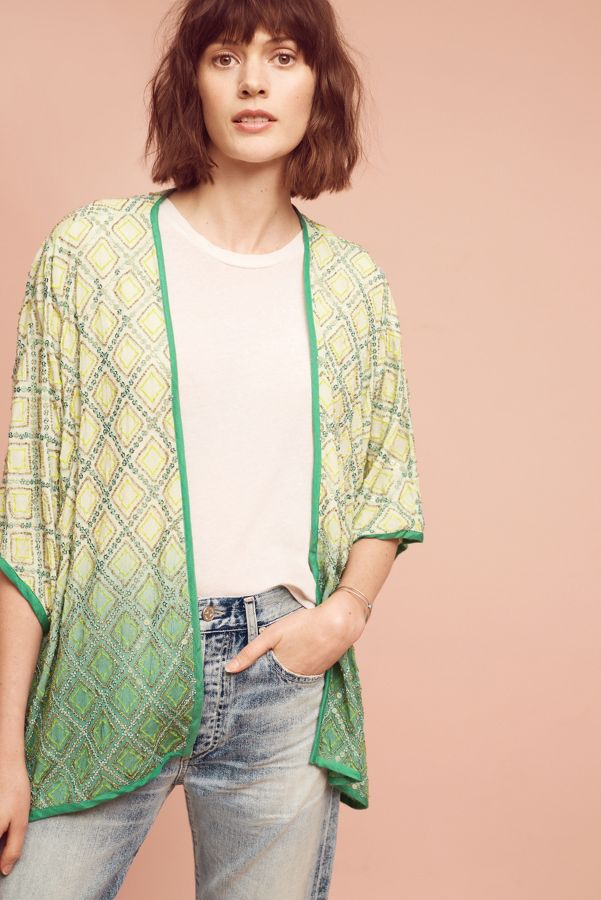 Blank Mariel Embellished Kimono