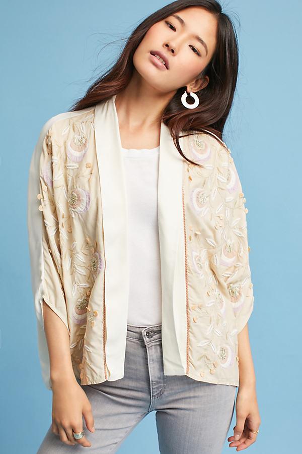Horatia Embellished Jacket - Cream, Size M/l