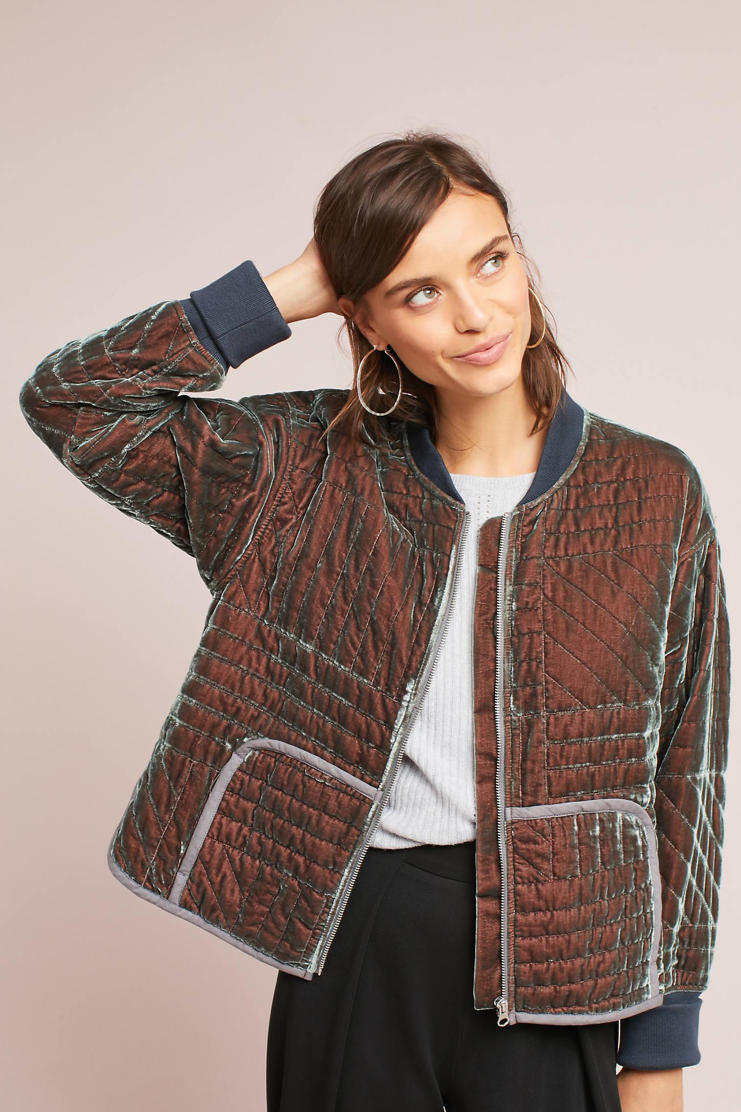 Velvet Quilted Jacket