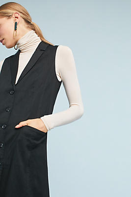 Slide View: 1: Linen Longline Vest